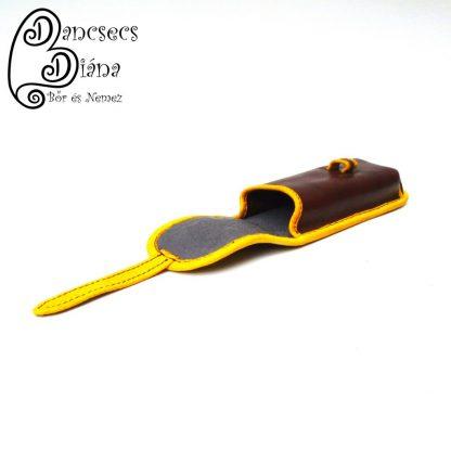 barna tolltartó sárga tulipánnal