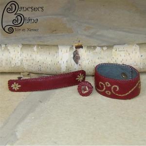 szironyozott karkötő, hajcsat és gyűrű