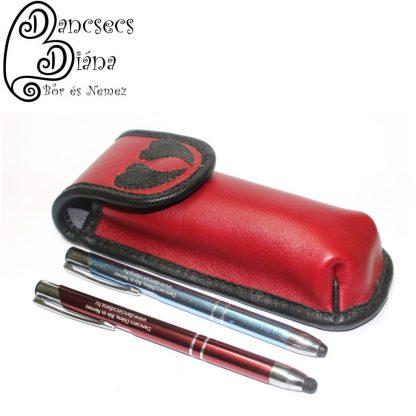 piros tolltartó fekete szívvel