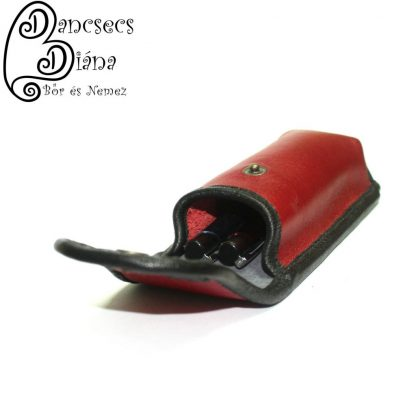 piros tolltartó fekete tulipánnal